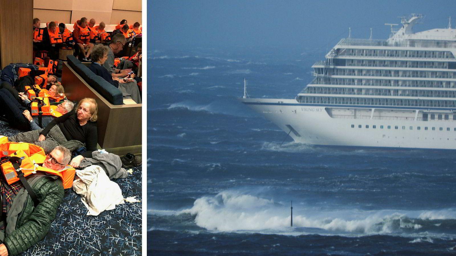 Det blåser fortsatt kraftig i området, men den verste faren er nå over for cruiseskipet Viking Sky utenfor kysten av Nordvestlandet. På det nærmeste var skipet omtrent 100 meter fra fjæresteinene i Hustadvika. Flere av passasjerene ble evakuert til Brynhallen.