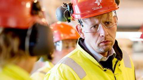 ØNSKER FORTGANG. Da DN snakket med olje- og energiminister Tord Lien på Gudrun-plattformen tirsdag, var han bekymret over at lenge varslede utbyggingsplaner i Norskehavet ennå ikke er levert inn til myndighetene. Foto: Tommy Ellingsen