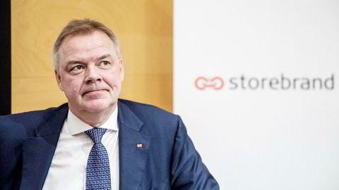– Storebrand leverer tilfredsstillende underliggende resultater justert for avkastningsbaserte kostnader og omstillingskostnader, sier Storebrand-sjef Odd Arild Grefstad.