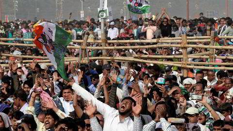 Det var stort engasjement i demonstrasjonen i regi av Trinamool Congress Party i Kolkata mot statsminister Narendra Modi og det styrende Bharatiya Janata Party (BJP).