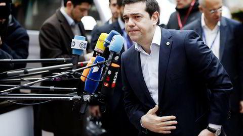 Hellas og kreditorene krangler igjen. Men sjeføkonom Harald Magnus Andreassen tror statsminister Aleksis Tsipras (bildet) til slutt blir enig med EU og IMF om en løsning. Her fra EU-Tyrkia toppmøtet i Brussel igår. Foto: Francois Lenoir/Reuters/NTB Scanpix