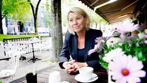 RIGID. Statsråd Monica Mæland (H) synes den lave kvinneandelen på Pareto-konferansen vitner om mangel på fantasi. Foto: Gorm K. Gaare