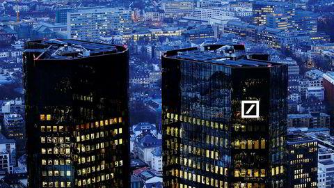 Hovedkvarteret til Deutsche Bank i Frankfurt.