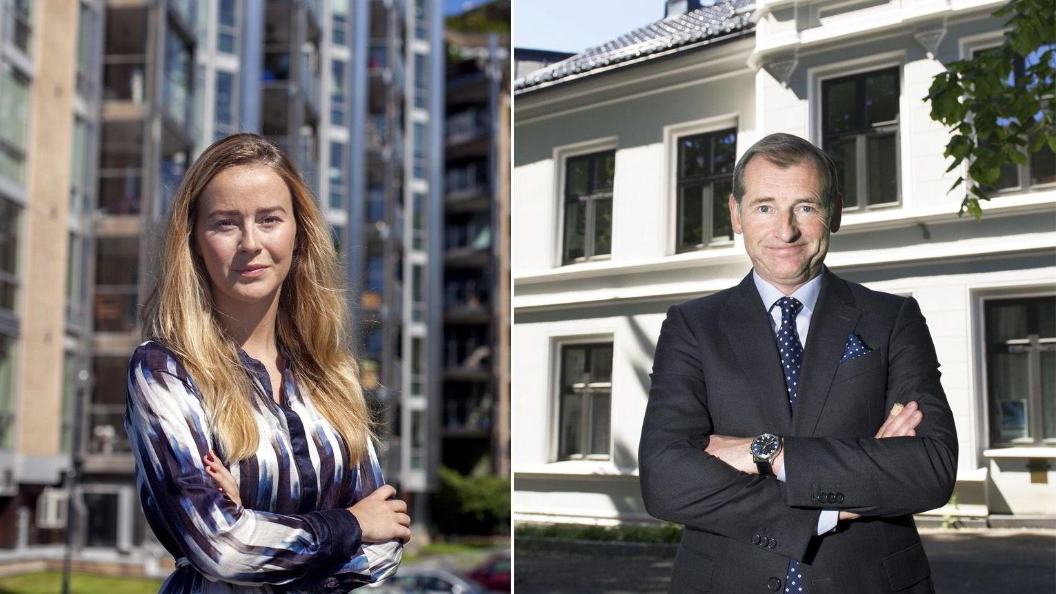 Nejra Macic, markedsanalytiker i Prognosesenteret og Carl O. Geving, direktør i Norges Eiendomsmeglerforbund, mener tilbudssiden i Oslo-området er hovedproblemet i det norske boligmarkedet.