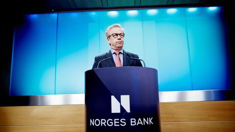 Norges Bank hovedstyre, med sentralbanksjef Øystein Olsen i spissen, holder styringsrenten uendret på 0,5 prosent.