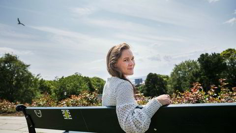 Martine Lunder Brenne blir direktør for Egmonts lesere under femti. St. Hanshaugen har vært lekeplassen for barna hennes i mange år.