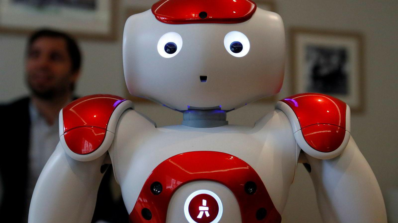 Roboter gjør inntog i finansbransjen, men de ser sjelden ut som denne her.