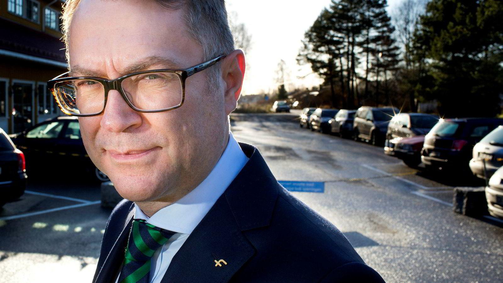 Leder i Finansforbundet Pål Adrian Hellman.