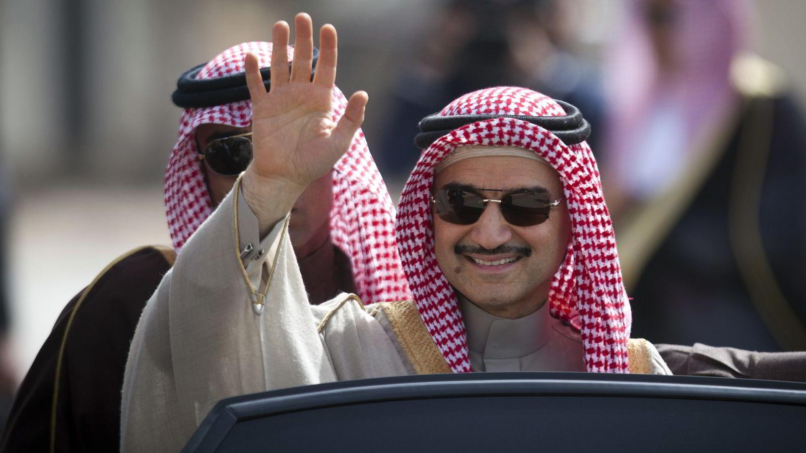 STOREIER: Den saudiarabiske prinsen Alwaleed bin Talal kontrollerer nå fem prosent av aksjene i Twitter. FOTO:
