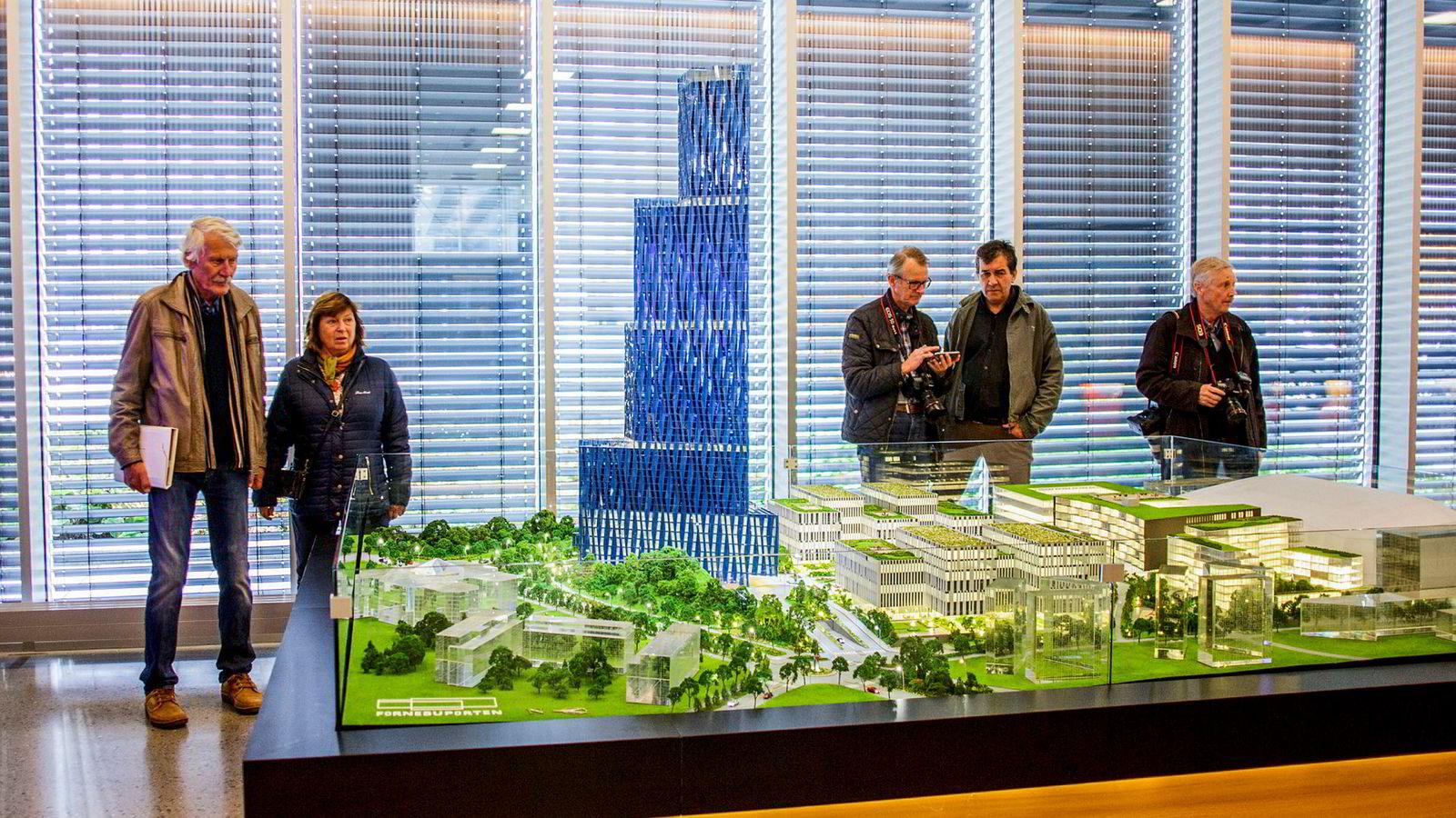 «Det store blå» har Kjell Inge Røkke kalt tårnet han vil bygge på Fornebu.