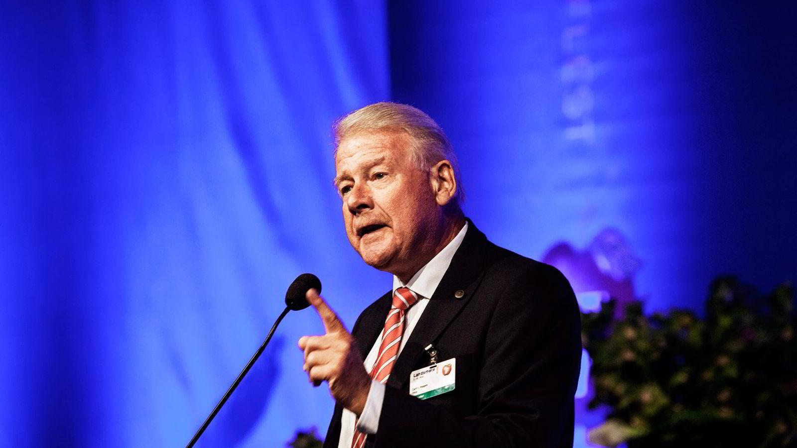 Carl I. Hagen, her på fjorårets Frp-landsmøte.
