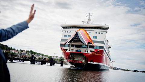 Fjord Line-fergen «Oslofjord» seiler to ganger daglig mellom Vestfold og Bohuslän. Men konkurransen med Color Line er knallhard. Foto: Fartein Rudjord