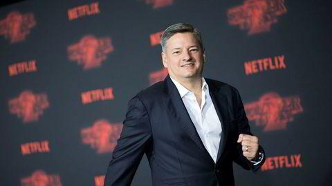 Innholdssjef Ted Sarandos i Netflix lover sitt norske publikum en stor norsk Netflix-produksjon. Foto: AFP/Valerie Macon