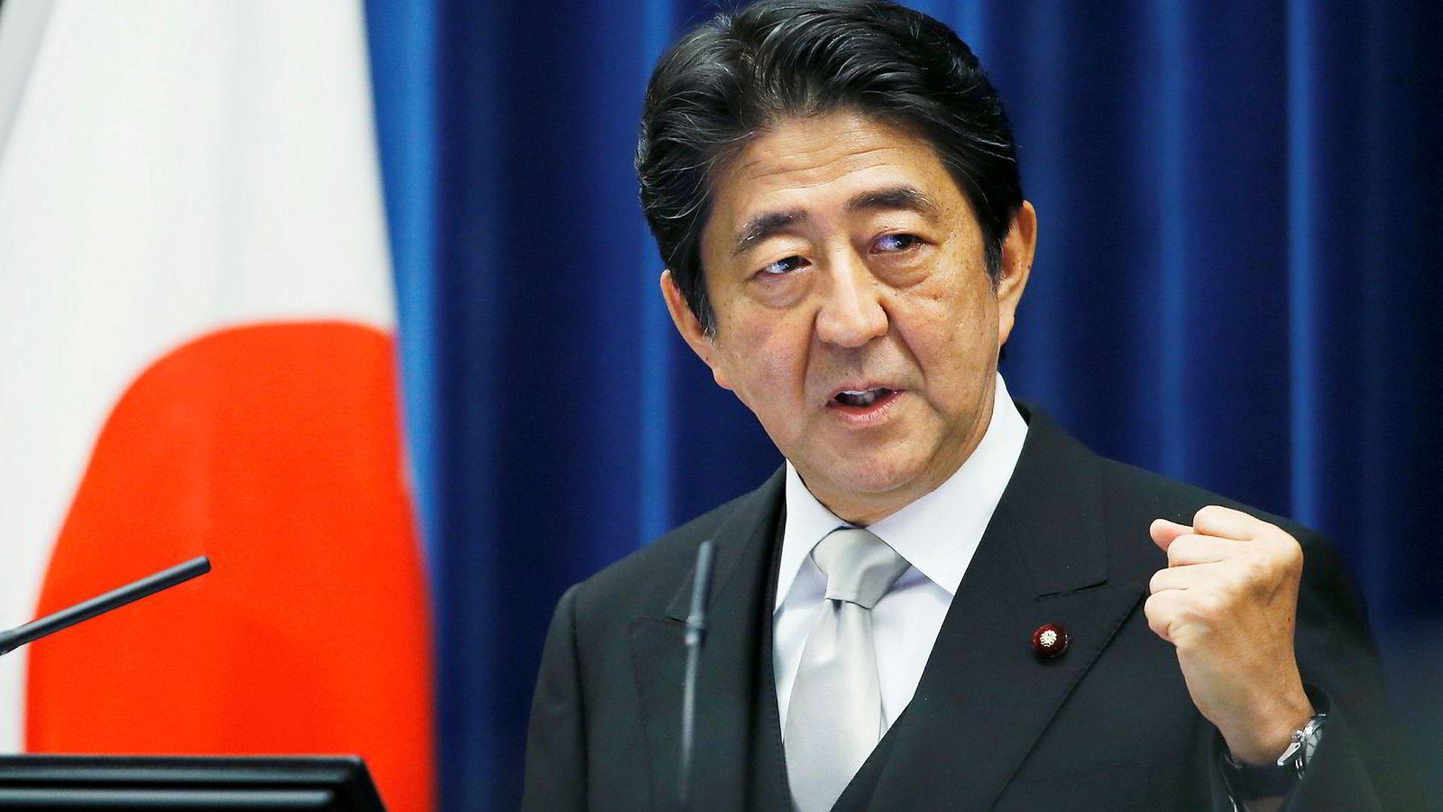 Japans statsminister Shinzo Abe.