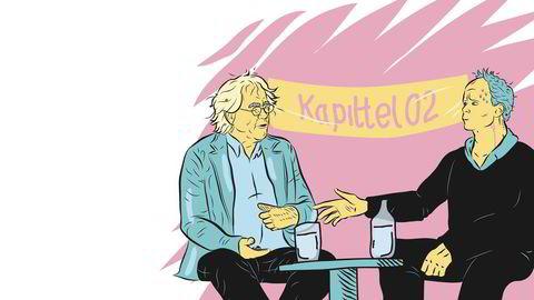 Da Harald møtte Dag. Året er 2002, anledningen er litteraturfestivalen Kapittel 02 i Stavanger – og det første møtet mellom Harald Eia og Dag Solstad. I Solstads roman «T. Singer» fra 1999 overmannes hovedpersonen av en særegen form for skamfølelse. Av og til dukker en erindring om en pinlig hendelse av en eller annen art opp, som gjør at Singer tvinges til å                    stoppe opp med et fortvilt uttrykk i ansiktet. Slik er det også for Eia, når han 13 år senere tenker på møtet med Solstad