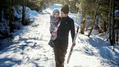 JENTA MI. – Da jeg lå begravet i snøen tenkte jeg at jeg hadde sviktet Amanda, skriver Thomas T. Kleiven. Det var ikke gitt at de to skulle få kose seg sammen på skitur i Vestmarka igjen.