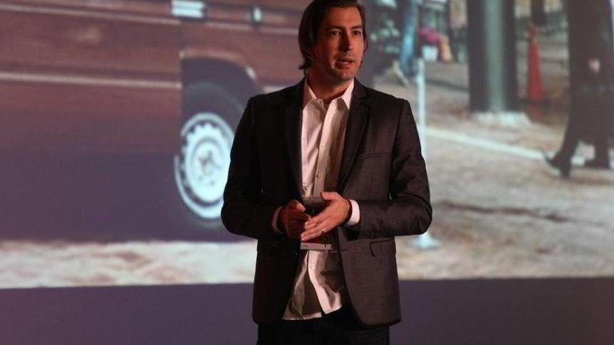Sean Percival, her avbildet under et foredrag i Tyrkia, er partner i venturekapitalinvestoren 500 Startups.