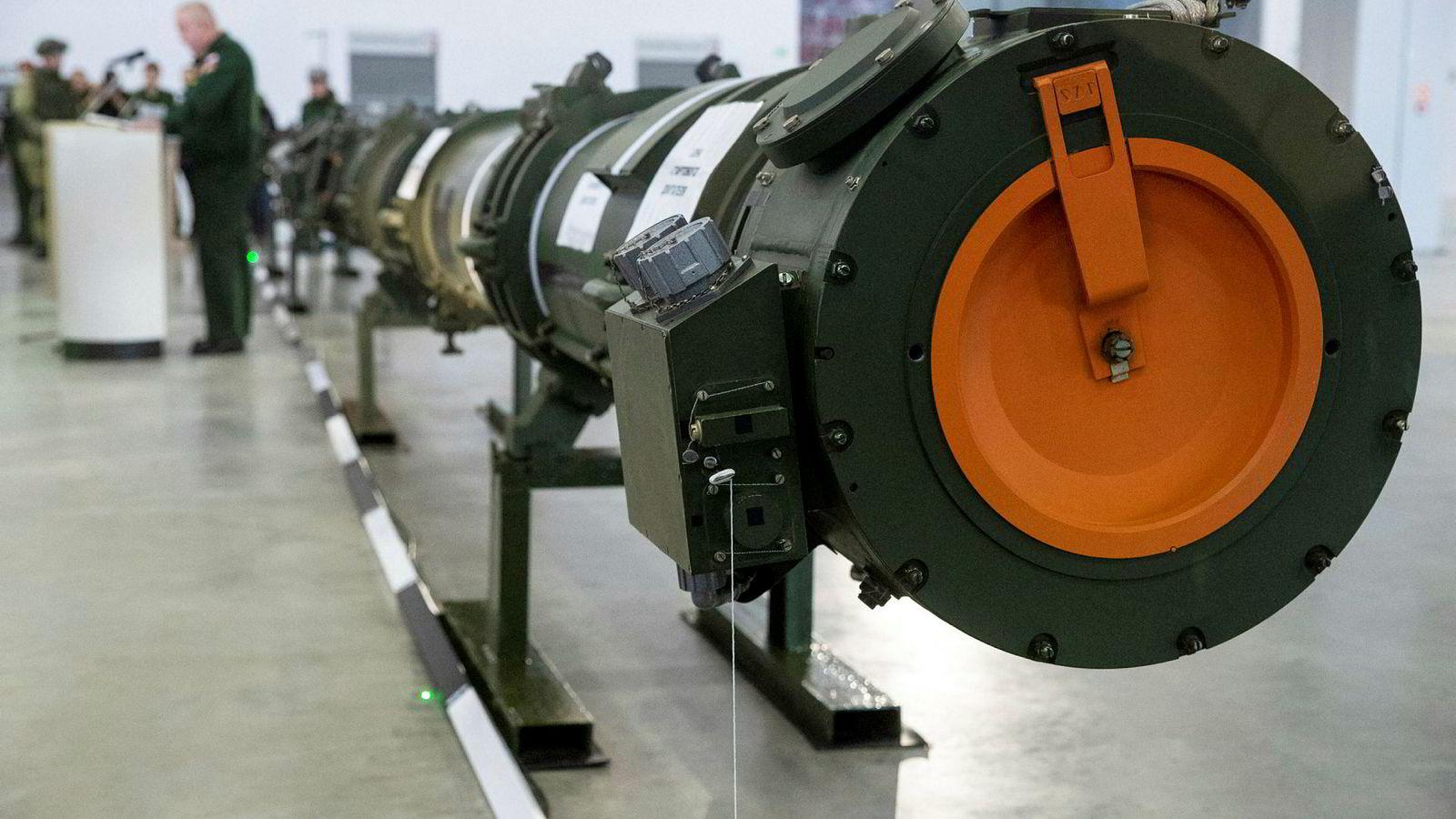 Russland viste frem sin landsbaserte mellomdistanserakett, 9M729, i Kubinka utenfor Moskva 23. januar i år. Raketten er den utløsende årsaken for at USA og deretter Russland trakk seg fra INF-avtalen.