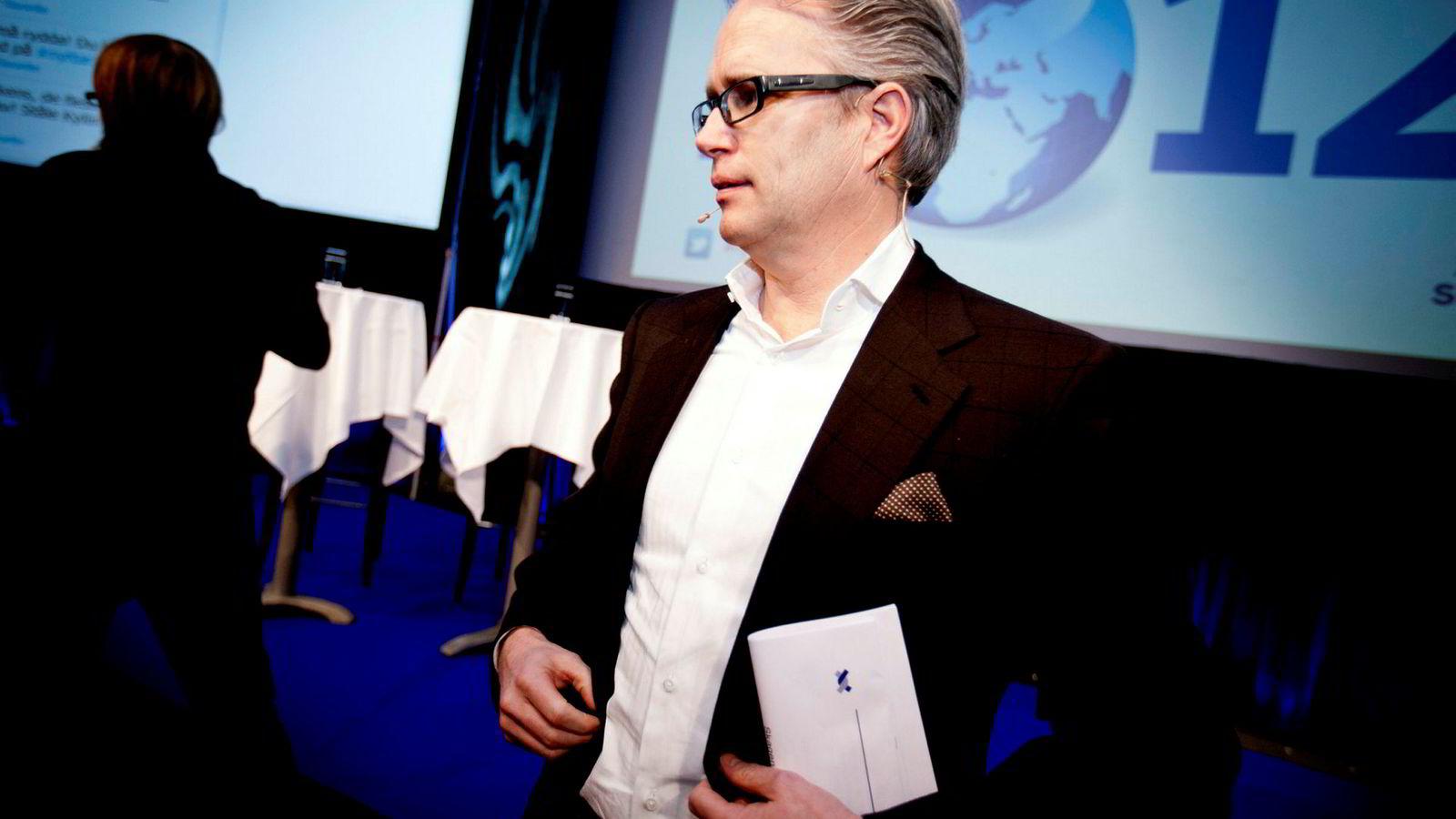 Harald Moræus-Hanssen på Skagenfondenes nyttårskonferanse 2012.