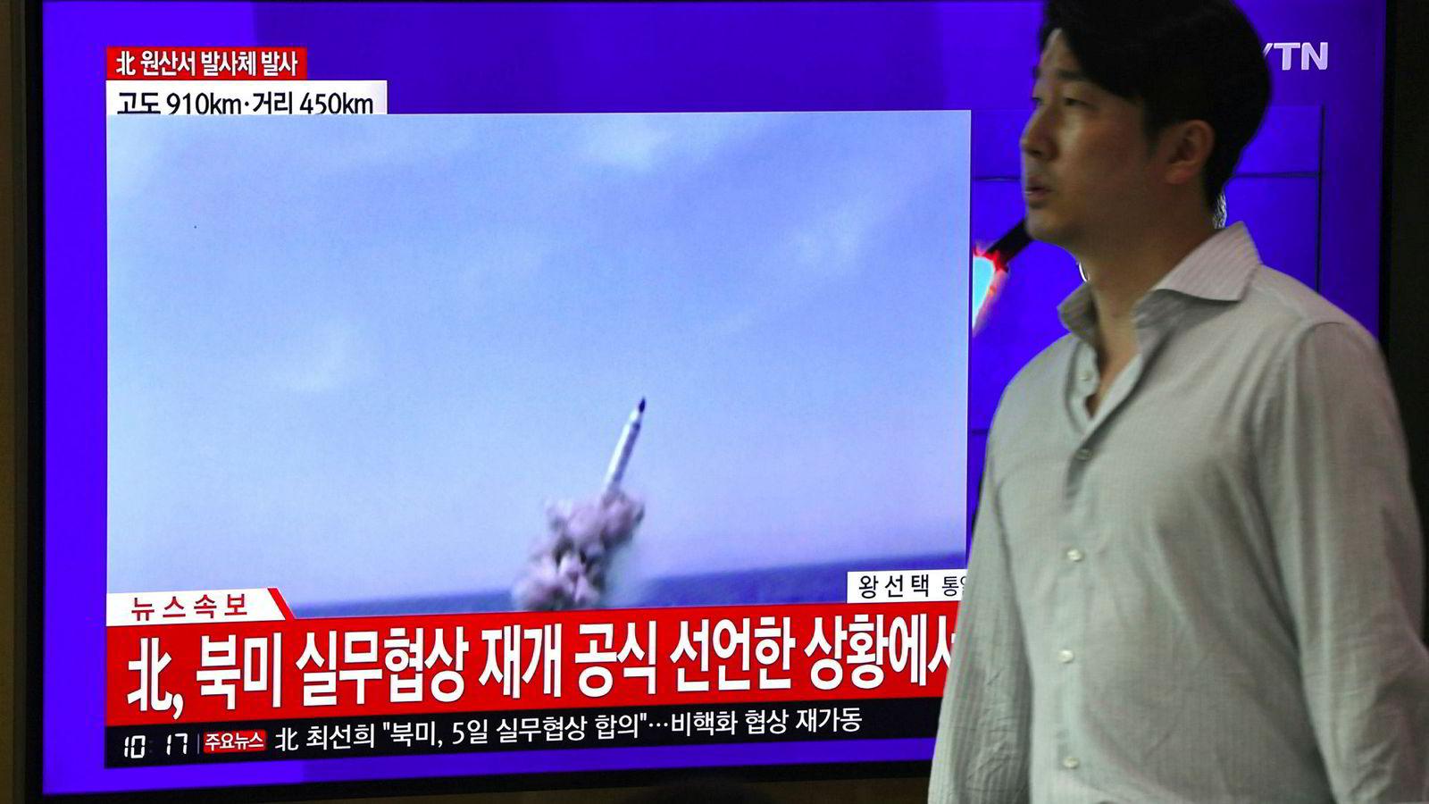 Nord-Korea har avfyrt nye testraketter.