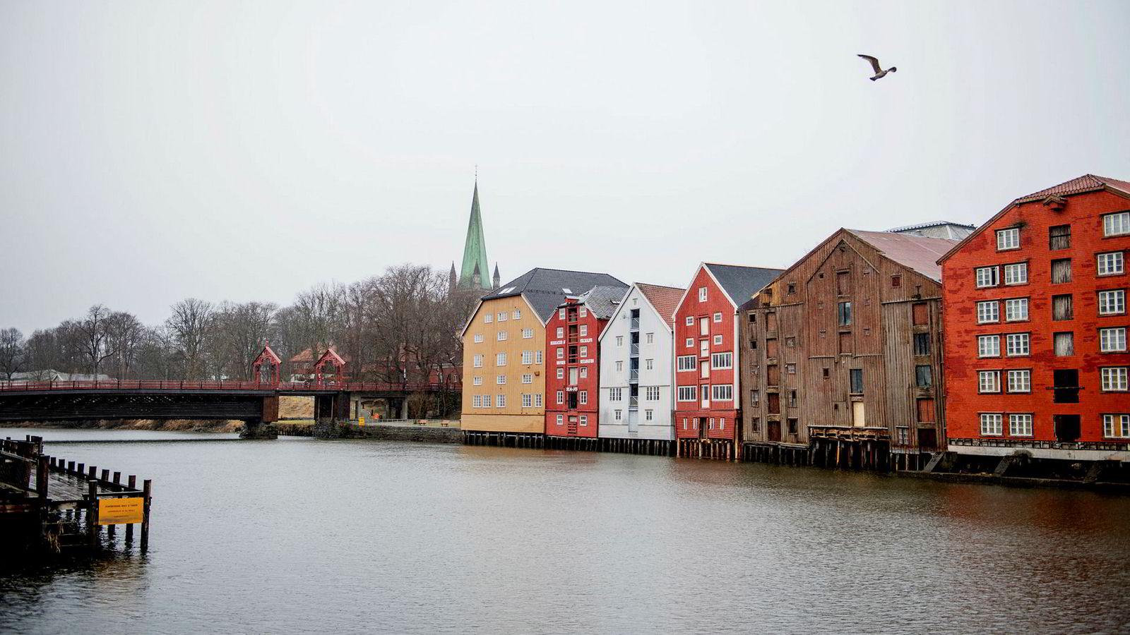 Boligprisene i Trondheim falt 2,1 prosent i november.