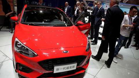USAs nest største bilprodusent sliter på det kinesiske markedet. Her fra en utstilling i Beijing i april.