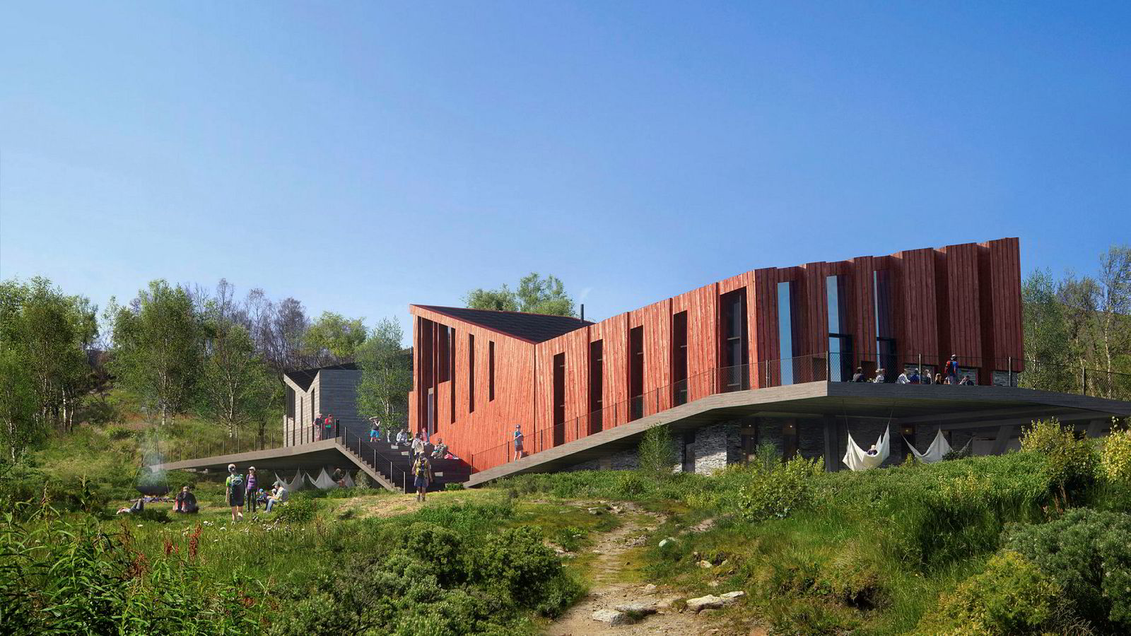 Den nye turisthytta på Mogen skal bygges som et plusshus, som over livstiden skal generere mer energi enn det forbruker, mye takket være solceller.