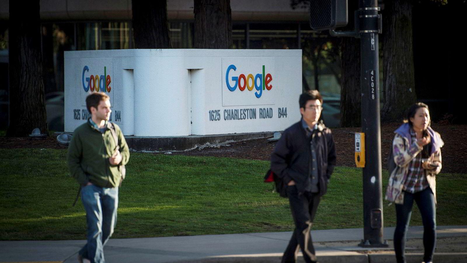 Det jeg kaller Den usynlige hånd 2.0 er av nyere dato. Den finnes, til tross for at heller ikke den er lett å få øye på. Her fra Googles hovedkvarter i Mountain View i California.