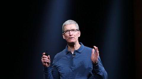 Apple-sjef Tim Cook har stoppet videre støtte for videospilleren Quicktime for Windows.                    Foto: Kimihiro Hoshino, AFP/NTB Scanpix