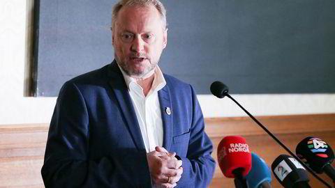 Byrådsleder Raymond Johansen redegjorde fredag for behandlingen av varslingssakene mot byråd for oppvekst og kunnskap Inga Marte Thorkildsen.