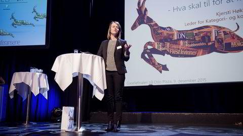 DNB-direktør Kjersti Høklingen på Gasellekonferansen. Foto: Thomas Haugersveen