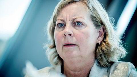 Administrerende direktør i Telenor Norge, Berit Svendsen, beklager at Telenor må legge ned kundeserviceavdelingen i Harstad. 81 ansatte mister jobben fra 1. januar. Foto: Gorm K. Gaare