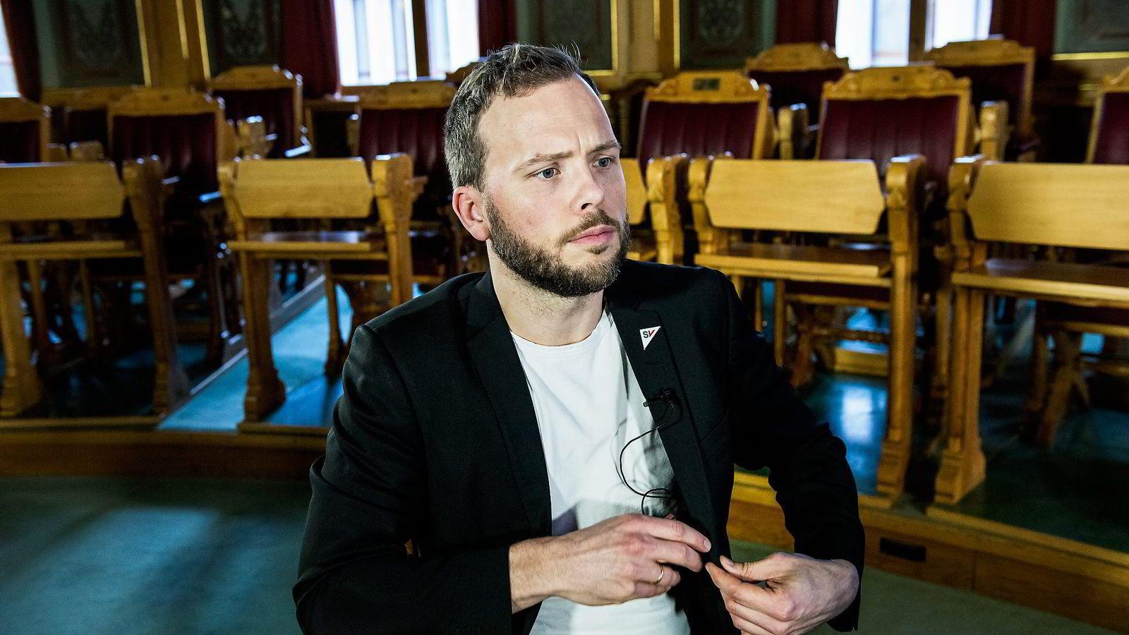 SV-leder Audun Lysbakken. Foto: Klaudia Lech