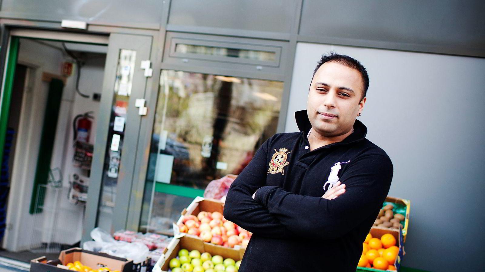 Sajjad Hussain utpekes som hovedmannen i rettssaken mot miljøet rundt dagligvarekjeden Lime. Foto: Fartein Rudjord