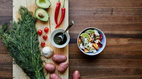 Bytt følge. Prøv nytt tilbehør i sommer og få ny favorittrett: Reker, poteter og avokado skaper en fyldig og mettende sommerrett som er perfekt som lunsj