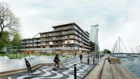 Det planlagte høyhuset i Sandnes skal bli 78 meter. Til sammenligning er Oslo Plaza 117 meter høyt.