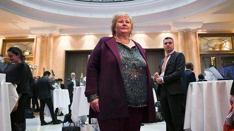 Statsminister Erna Solberg deltok fredag på den store sikkerhetskonferansen i München fredag.