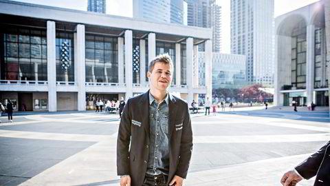 Sjakkspiller Magnus Carlsen (26) har i likhet med Sophie Elise figurert i Altibox' kampanjefilmer. Nå risikerer selskapets kunder å miste alle TV2-kanalene fra og med onsdag. Foto: Johannes Worsøe Berg