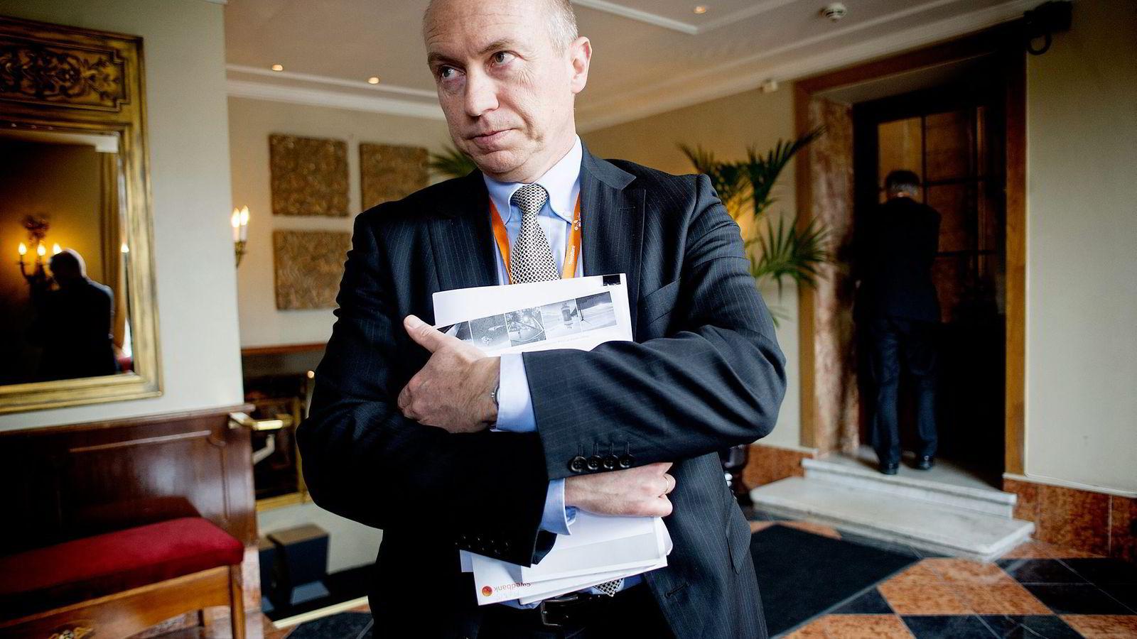 En stor internasjonal finansiell investor vurderer å overta Statkrafts vindprosjekter i Trøndelag. Bildet viser Statkraft-sjef Christian Rynning-Tønnesen.