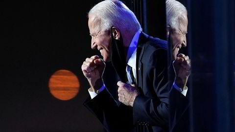 Joe Biden er erklært vinneren av det amerikanske presidentvalget og vil med det bli USAs 46. president når han tiltrer 20. januar 2021.