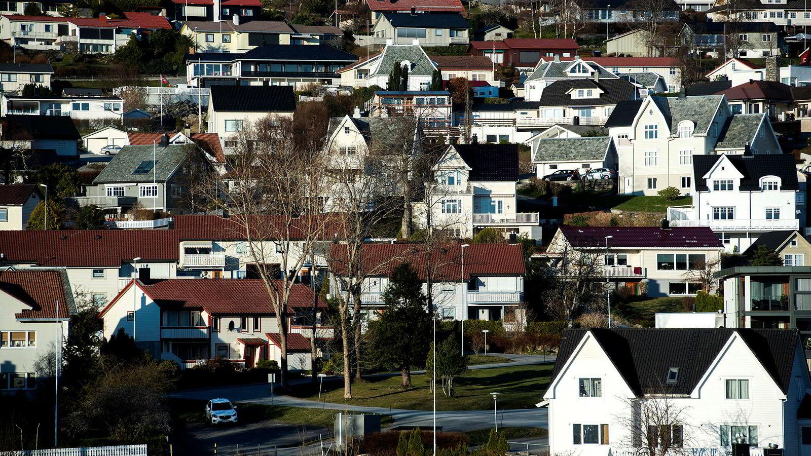 Eneboliger i Ulsteinvik.