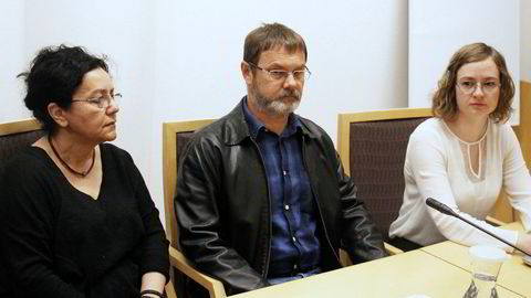 Spionsiktede Mikhail Botsjkarev må sitte i varetekt frem til anken er behandlet. Her fra fengslingsmøtet i Oslo tingrett torsdag morgen.