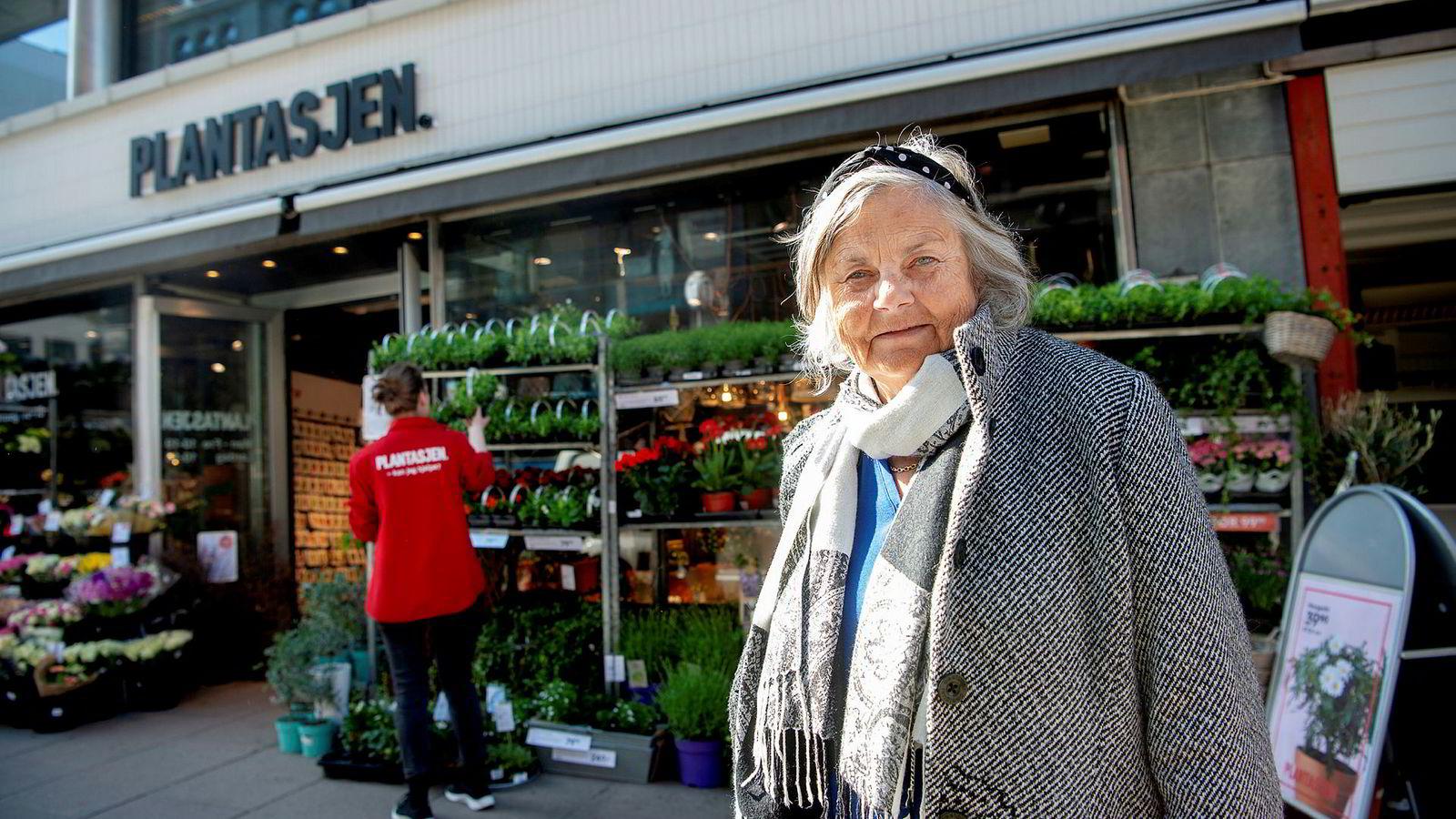 Elisabeth Calmeyer var onsdag på Plantasjen i Grensen i Oslo for å handle miniplanter.