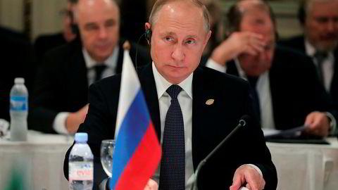President Vladimir Putin på G20-toppmøtet i Buenos Aires.