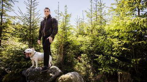 Skogeier Michael Stang Treschow (29) er i dag arbeidende styreleder i familieselskapet Treschow-Fritzøe as. Foto: Alexander Svanberg