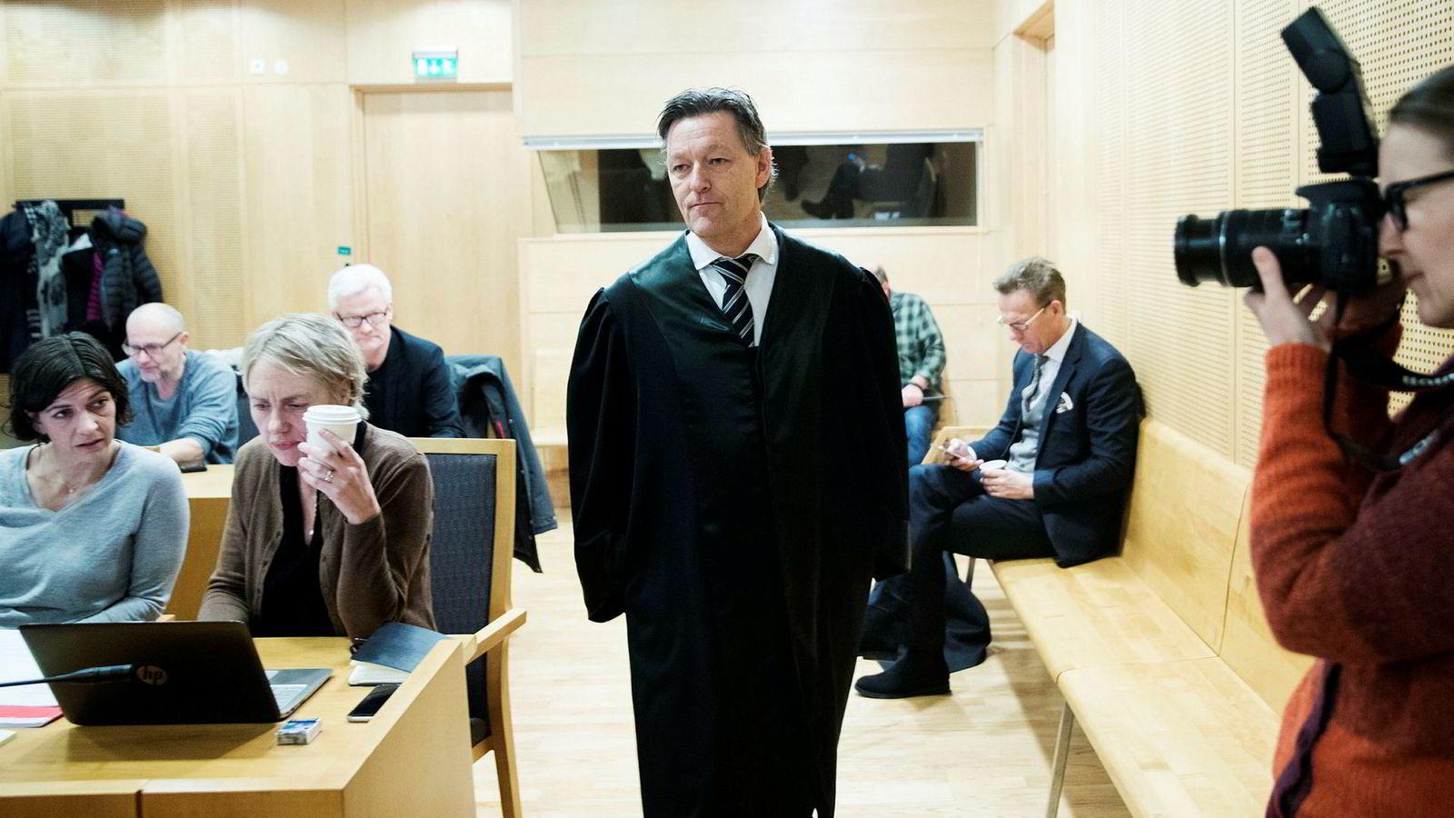 Advokat Kjetil Edvardsen sier Aleris har opptrådt uaktsomt. Her fra rettssaken mellom Fagforbundet og velferdsselskapet Aleris Ungplan og BOI mandag.