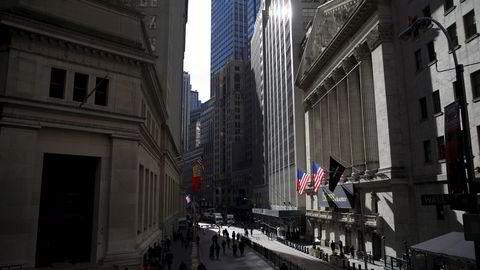 Flere ting trakk stemningen opp på børsen på Wall Street i New York, USA. Illustrasjonsfoto: REUTERS/Mike Segar