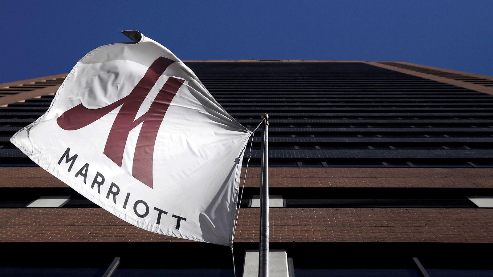 Bildet viser fasaden til Marriott Downtown hotellet på Manhattan i New York.