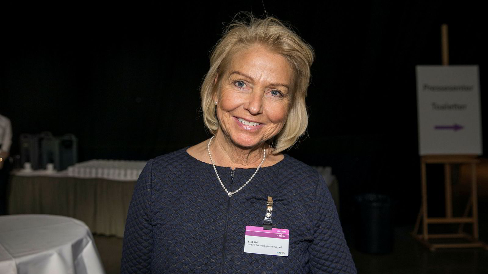 Direktør i Huawei, Berit Kjøll, under NHOs årskonferanse.