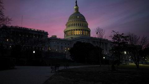 Capitol-bygningen i Washington som huser Kongressen. Nå advarer Google om hacking.